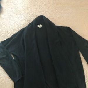 Black Shawl collar cardigan M